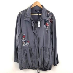 Max Jeans Embroidered utility jacket woman's M